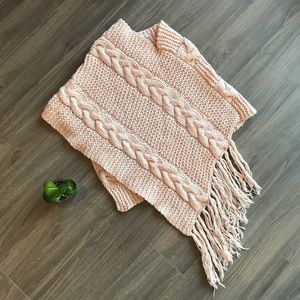 Aritzia TNA 100% wool knit poncho SUPER WARM